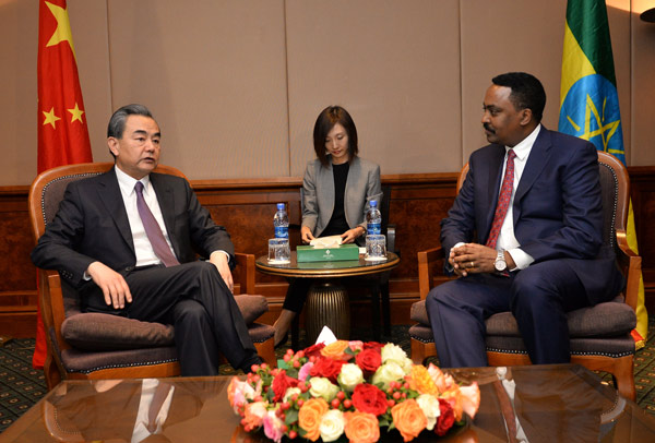 Chinese, Ethiopian FM's meet on bilateral issues