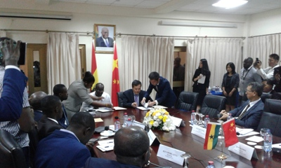 Ghana & China signs minutes of the fourth session of the joint commission on economic, trade, and te