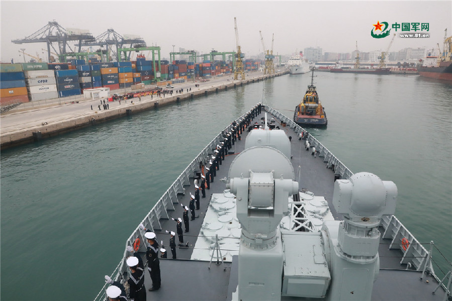 Chinese naval ships visit Morocco