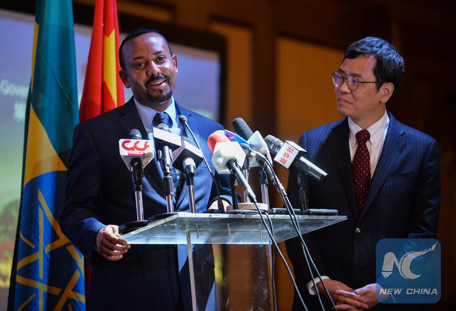Ethiopian PM commends China's support to Ethiopia's human development