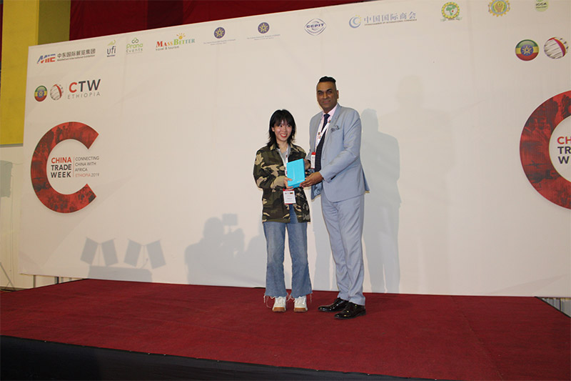 Winner of the Huawei tablet at China Trade Week Ethiopia 2019: