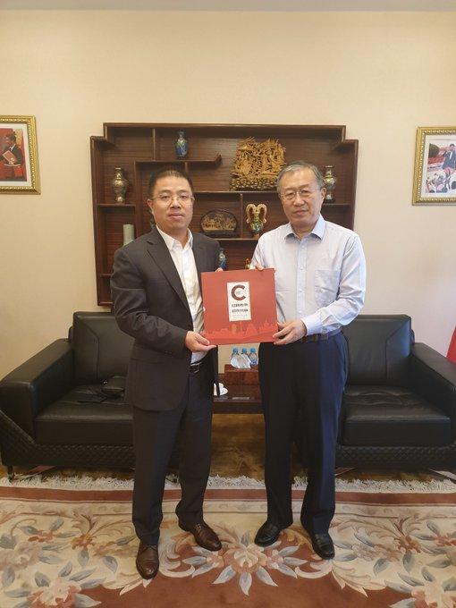 David Wang met on Wednesday with China's Ambassador to Morocco